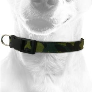 Collier pour chien en nylon camouflage