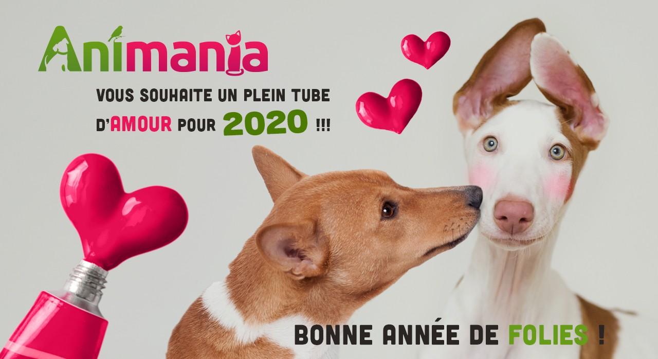 L'équipe Animania vous souhaites beaucoup d'amour et de folies pour 2020 !