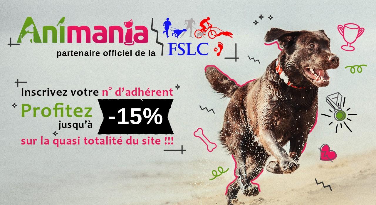 Sur Animania, les adhérents de la FSLC bénéficient jusqu'à - 15 % sur la quasi totalité du site !!!